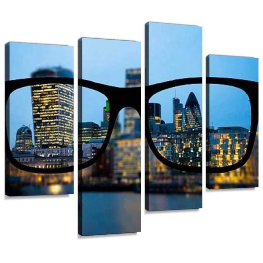 glasses city art