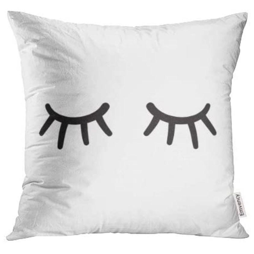 sleeping eyes pillow