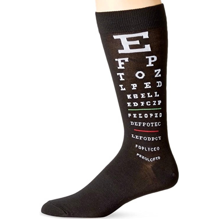 eye chart socks