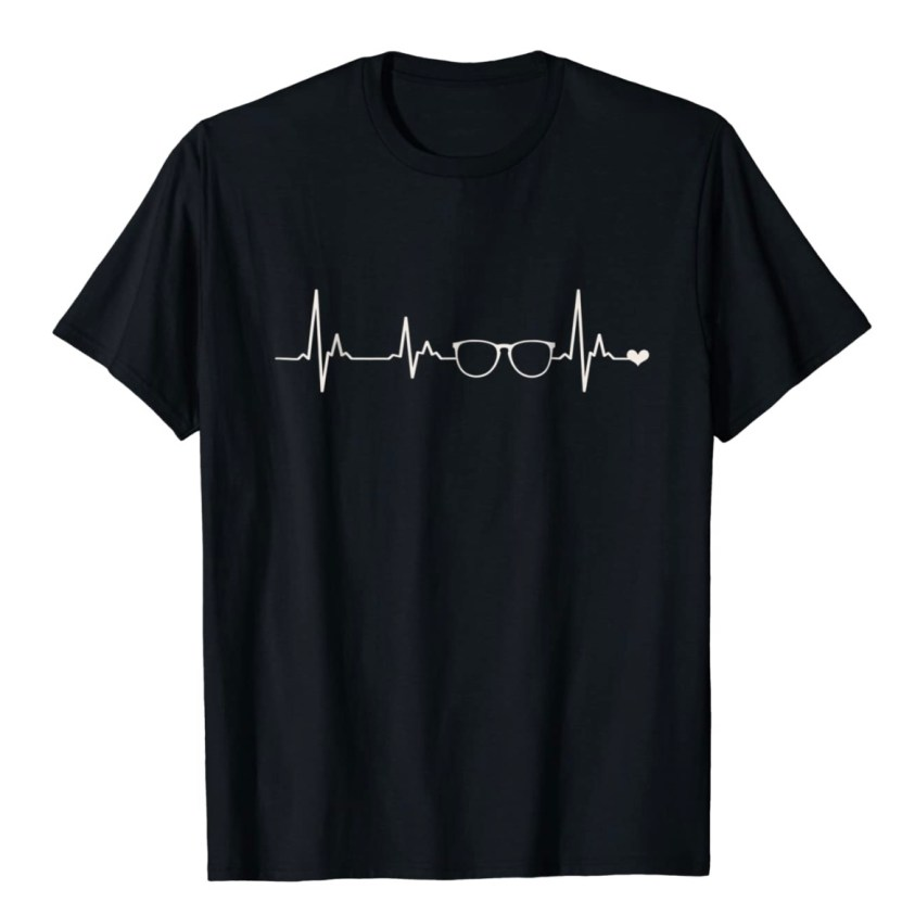 glasses heartbeat shirt