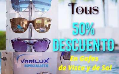 50% DESCUENTO en Gafas Tous