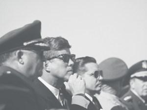 JFK wearing the AO Saratoga