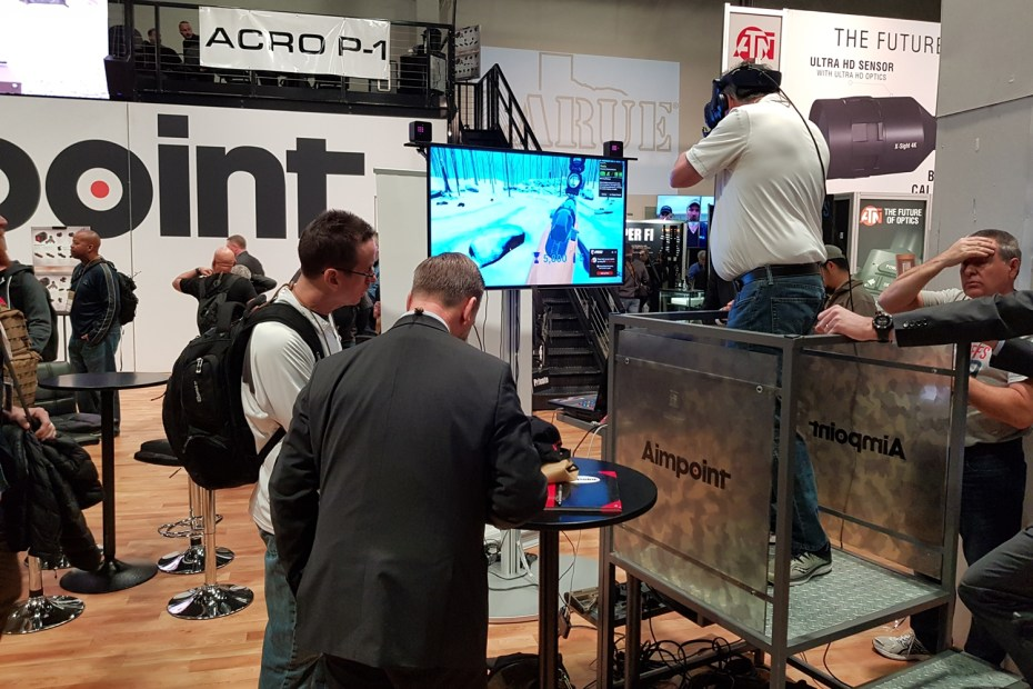 Aimpoint's booth at Shot Show 2019