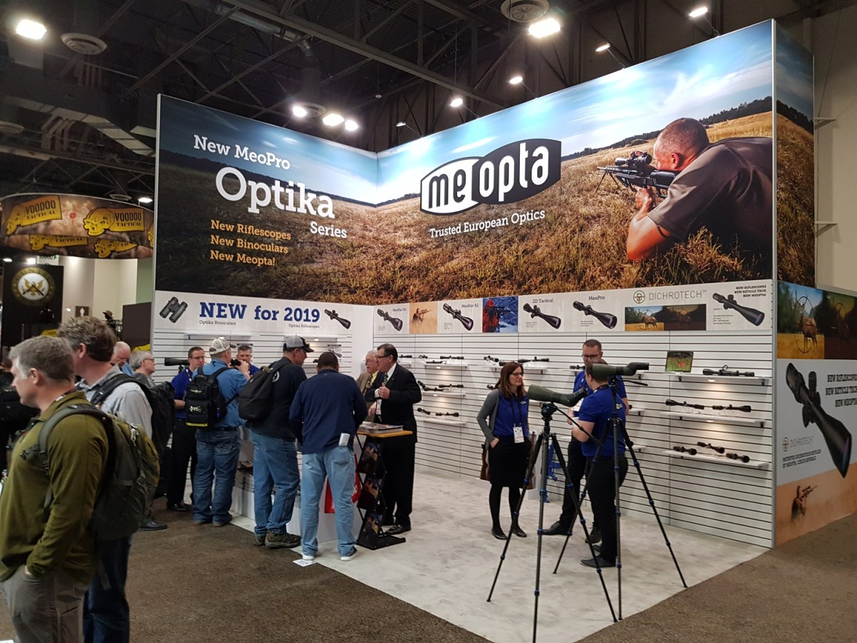 Meopta's booth at Shot Show 2019