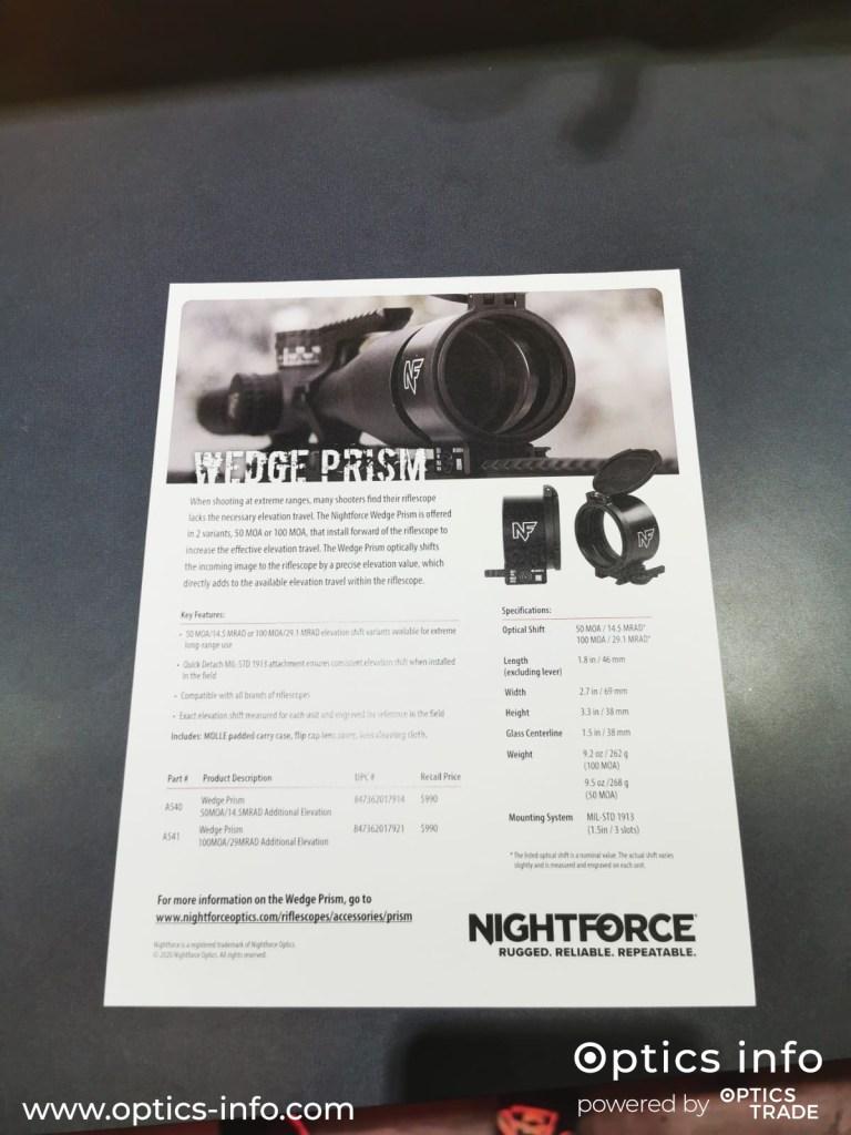 Nightforce Optics Wedge Prism