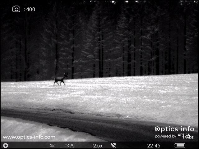 An image seen through Pulsar Helion 2 XP50 'Hot Black'