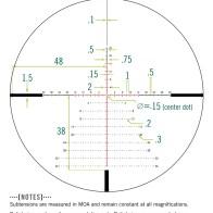 Vortex Razor LHT 4.5-22x50 FFP Riflescope - XLR-2 MOA Reticle (source: Vortex Optics)
