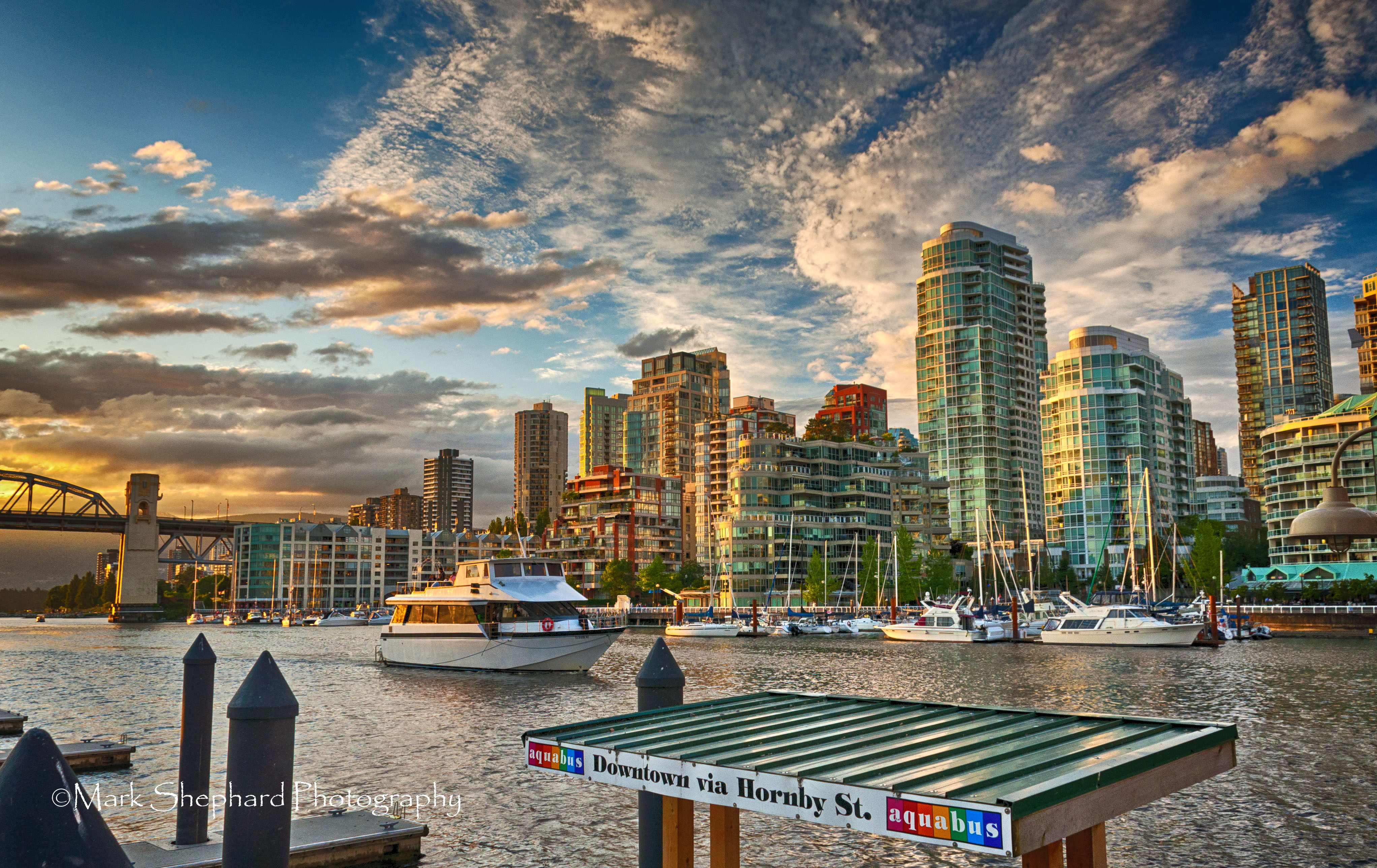 Vancouver Skyline from Granville Island in HDR  opticsandperspectives