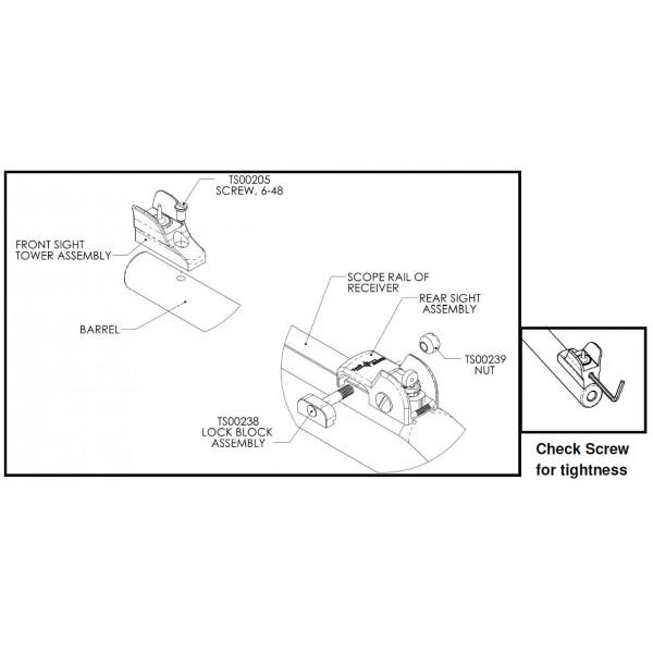 Tech Sights Aperture Sight for Remington 597 REM200 On Sale