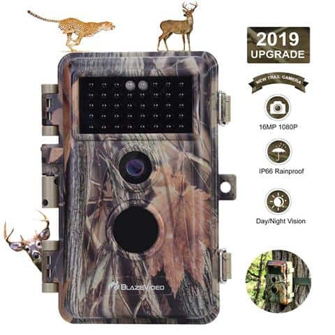 BlazeVideo Game Trail Camera Night Vision 16MP HD