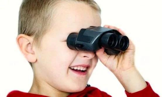 Backwards binoculars