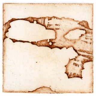 Intaglio etching, 2x2 in.