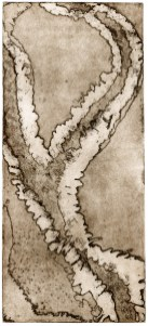 Intaglio etching, 6x9 in.
