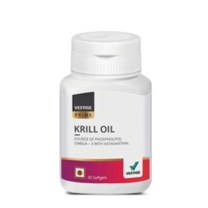 KRILL OIL- 5 CARDIAC CARE HEALTHY FOOD SUPPLEMENTS BY VESTIGE