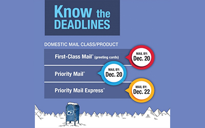 USPS Holiday Shipping Deadlines