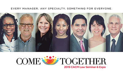 2019 CACM Law Seminar & Expo 3/14-3/15
