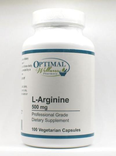 L-Arginine 500 mg (Supports Nitric Oxide Formation)