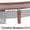 Comptoir Réception A4-3 1.8 ML