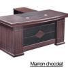 Bureau Marron chocolat +Retour MDF A-8028[220X110X76]
