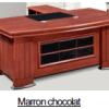 Bureau Marron chocolat +Retour MDF A-8091[200X100X76]