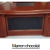 Bureau Marron chocolat+Retour MDF A-8006[180X90X76]