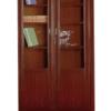Elément Bibliothèque MDF Marron chocolat  B-8002-2 02 Portes, [80X40X195