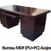 Bureau MDF (PU+PC) Acajou A-8414 140X70X76],