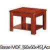 Table Basse MDF, [60x60x45],Acajou D-31006