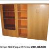 Elément Bibliothèque 05 Portes, SPDG, Bib M03 180X185X40