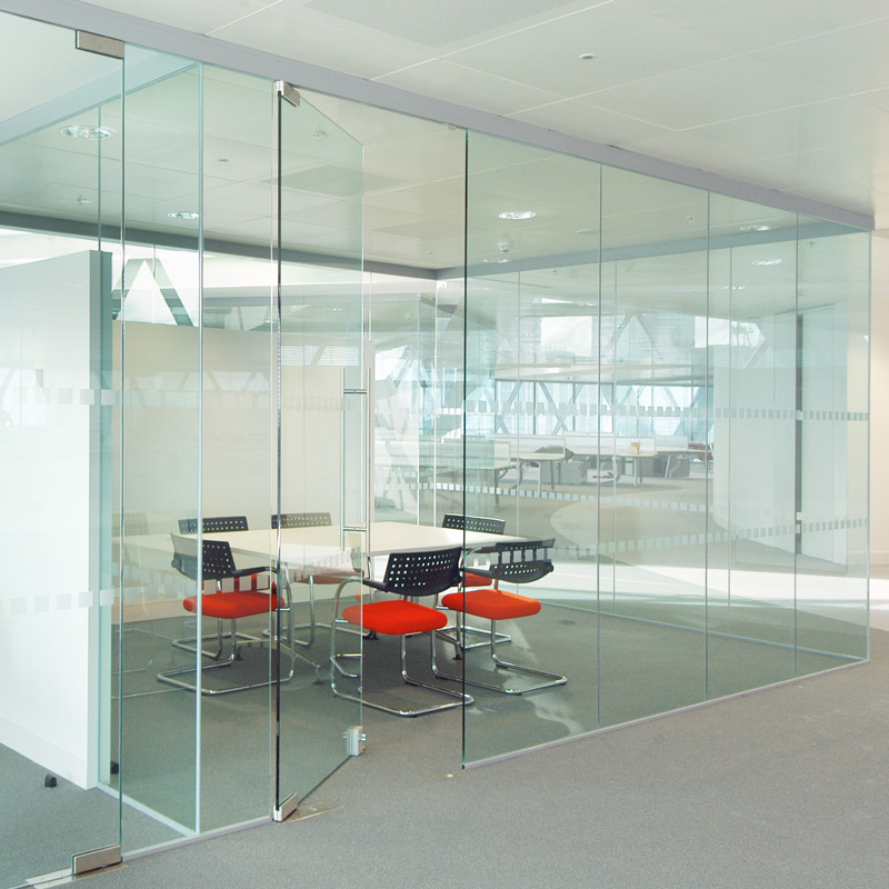 Axile Series Frameless Glass Door Leaf Partitioning