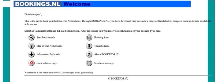 Bookings.NL in 1997