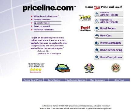 PriceLine.com in 1999