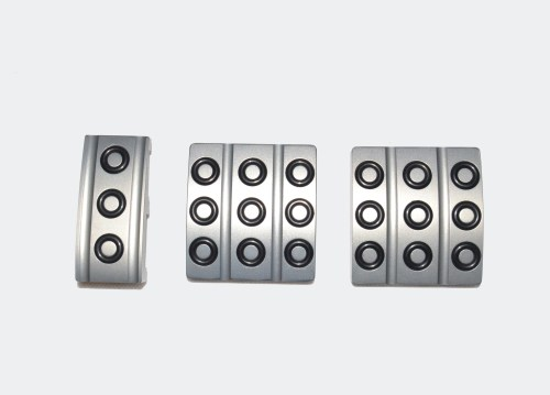 small resolution of  pedal covers set of 3 silver