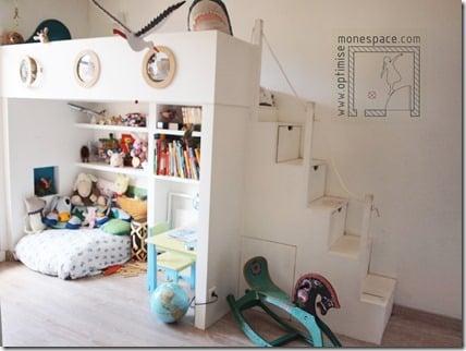 chambre lit mezzanine enfants