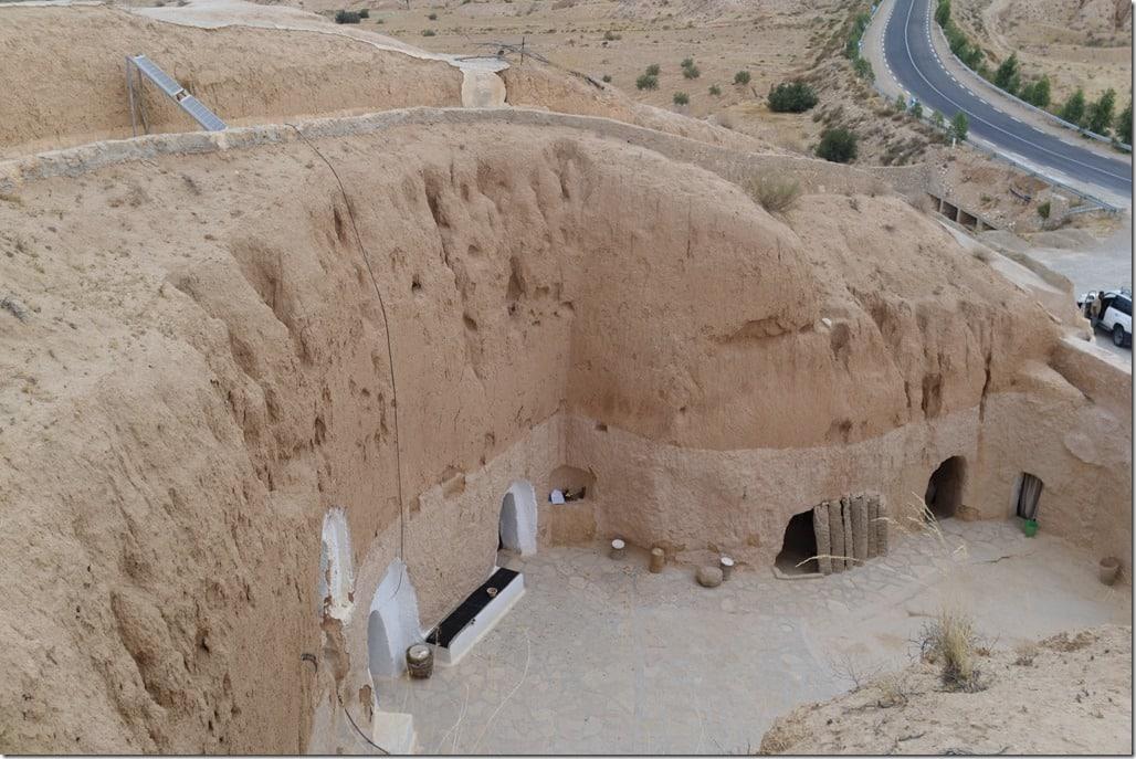 Maison troglodyte à Matmata, vu d'en haut