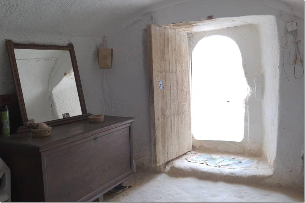maison troglodyte à Matmata : la chambre