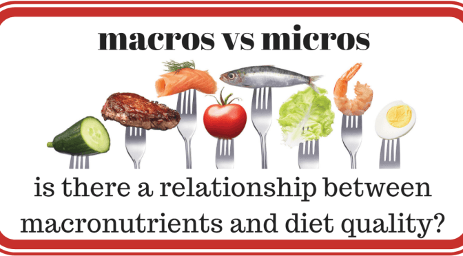 is there a relationship between macronutrients and diet quality?