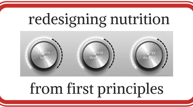 redesigning nutrition from first principles
