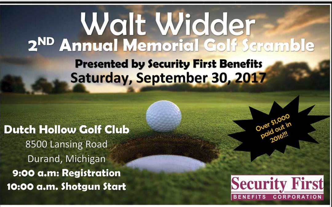 Walt Widder 2nd Annual Memorial Golf Scramble