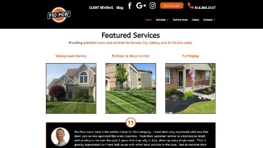 Pro Mow Lawn Care Website