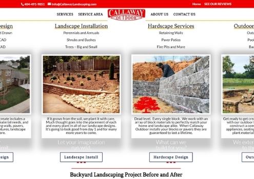 High End Landscape Design Website In Atlanta GA