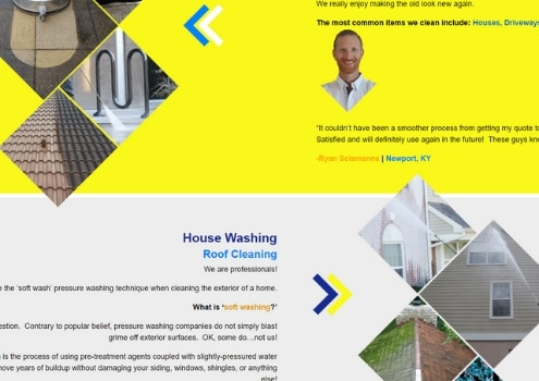 Pressure Washing Service Website in Northern Kentucky
