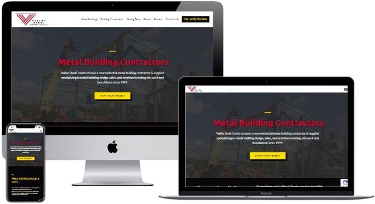 Construction Company Website Design