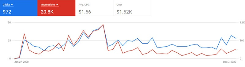 Veterinarian Clients Google Ads Performance