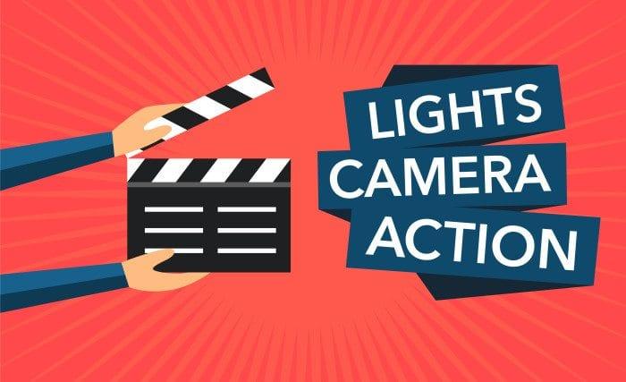 take five: light, camera, action.