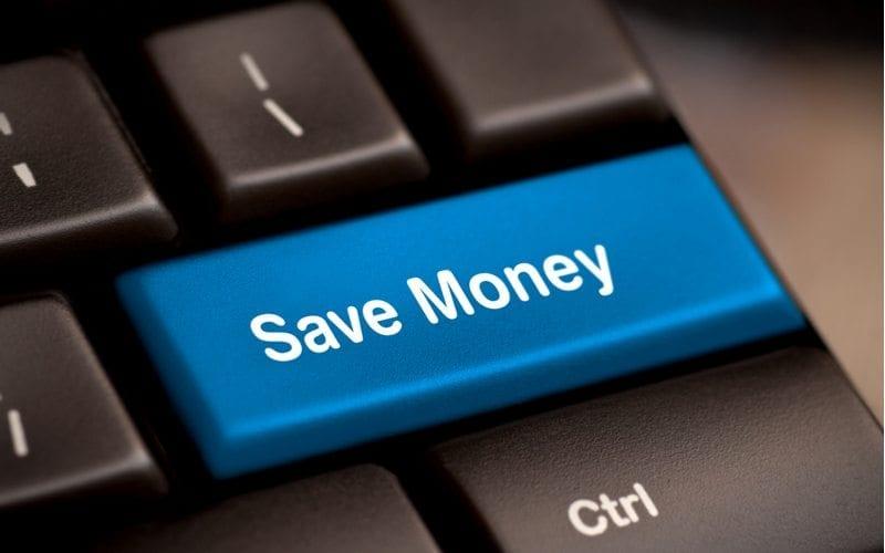 """Save Money"" wording on keyboard return/enter key"