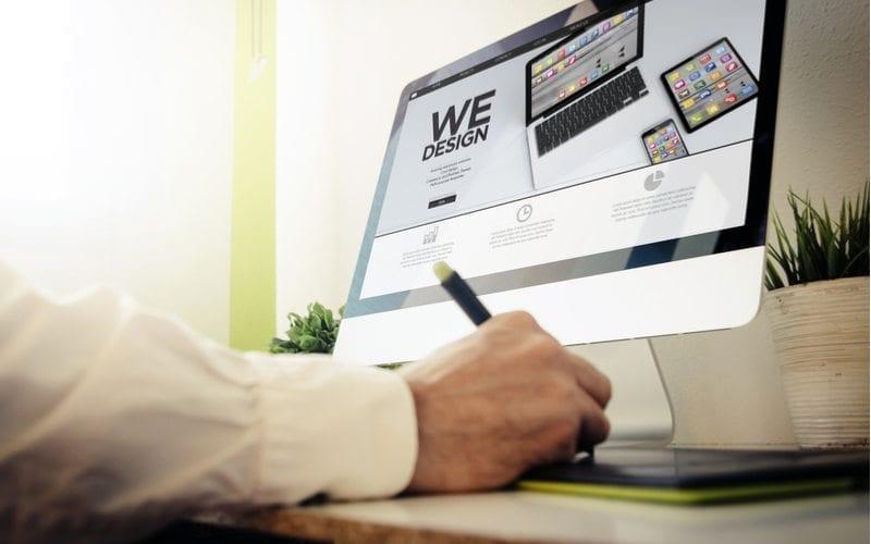 Graphic Designer choosing Graphics for their Website design for medical professionals
