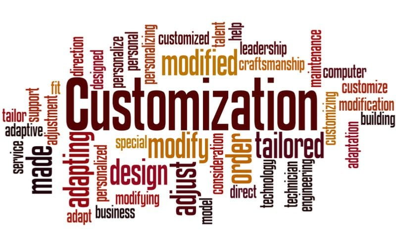 make sure your dental website allows for customization