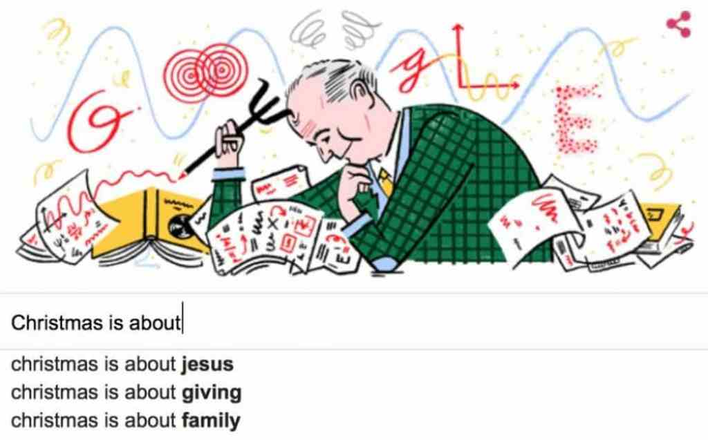Google search for Christmas is about