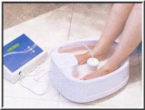 Let the foot bath (detox foot bath) begin!